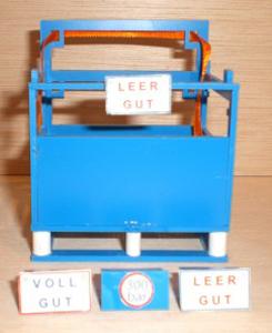 Schilder für die Gastransportbox Blau