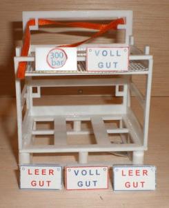 Schilder für die Gastransportbox Weiß