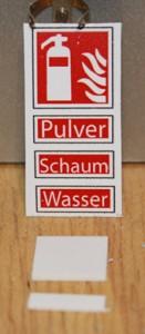 Schildersatz Klein 1-14-1Int